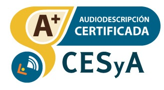 Logotipo Sello CESyA Audiodescripción Nivel A+