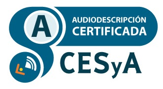 Logotipo Sello CESyA Audiodescripción Nivel A